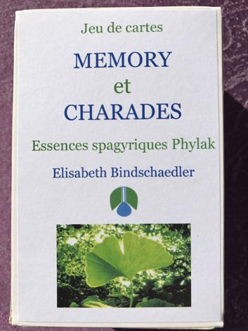 Jeux de cartes Memory et Charades, Elisabeth Bindschaedler